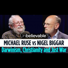 Embedded thumbnail for Michael Ruse vs Nigel Biggar • Darwinism, Christianity and Just War